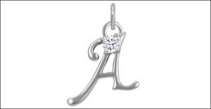 monogram pendant