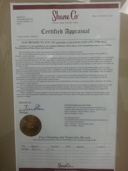 Certified appraisal