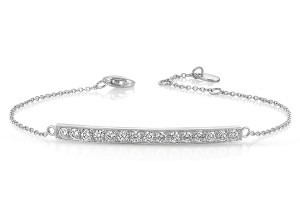 Diamond Bar Bracelet in 14k White Gold