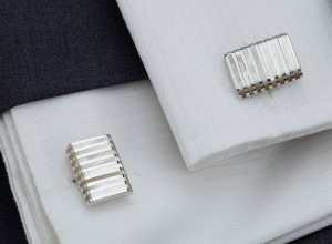 Mother of Pearl Lined Cuff Links in Sterling Silver