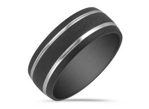 Textured Titanium Comfort Fit Ring