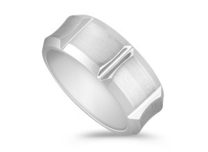 Cobalt Comfort Fit Ring with Satin Finish
