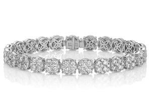 Round Diamond Cluster Bracelet