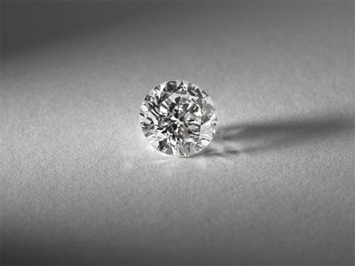 Loose Round Diamond Close Up