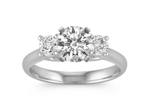 Three Stone Diamond Ring With Round Diamonds