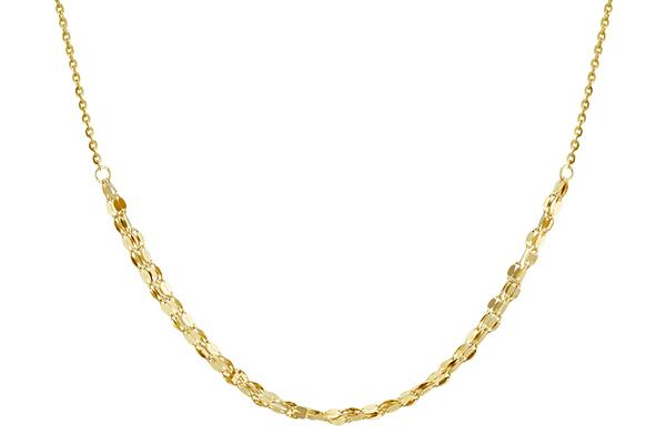 Yellow gold choker necklace.