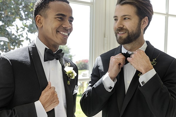 Groom with his best man.