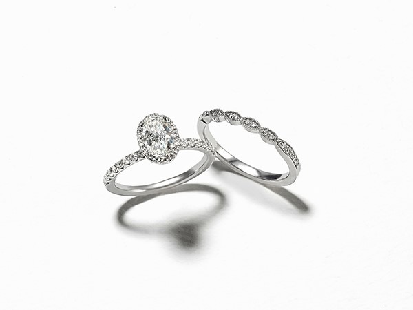 Matching your wedding band with your engagement ring.