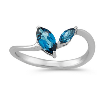 Marquise Cut Topaz Ring in Sterling Silver