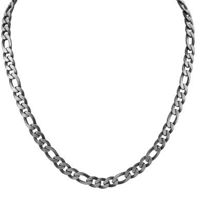 Stainless steel figaro chain.