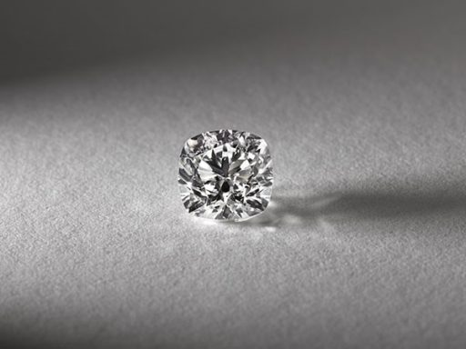 Cushion cut diamond.