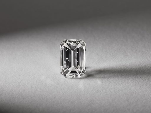 Emerald cut diamond.