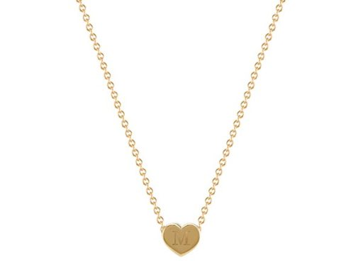 Engravable Heart Pendant necklace.
