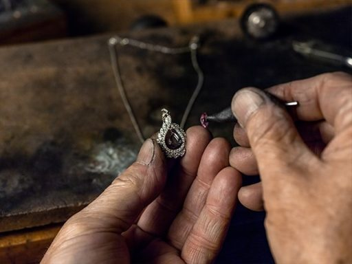 Replacing the center stone in a pendant.