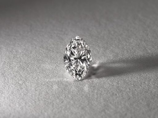 Marquise cut diamond.