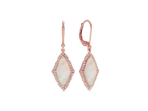 Mother-of-pearl earrings.