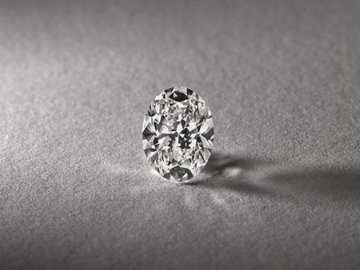 Oval cut diamond.