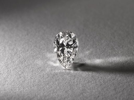 Pear cut diamond.