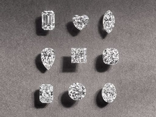 All 9 shapes of diamonds.