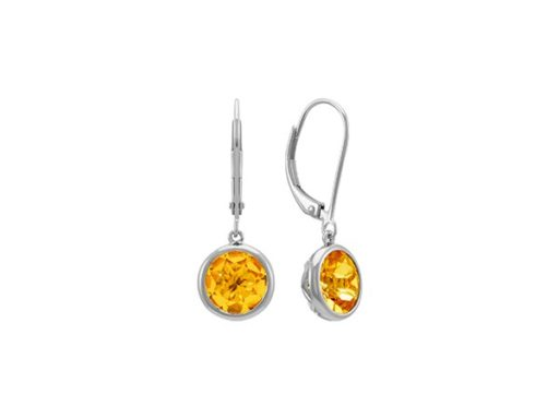 Bezel set citrine earrings