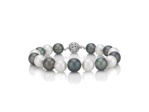 Cultured Tahitian and South Sea Pearl bracelet