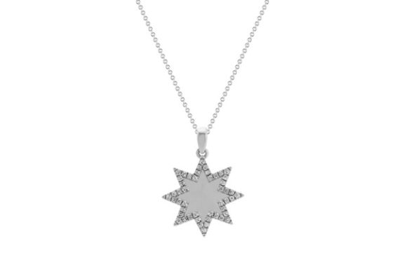 Diamond star pendant.