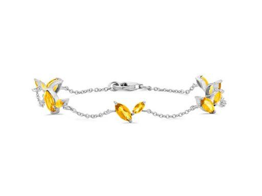 Marquise citrine bracelet.