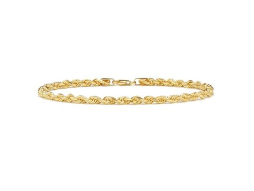 Rope bracelet in 14k yellow gold.
