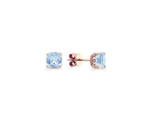 Aquamarine Earrings with Diamond Accents