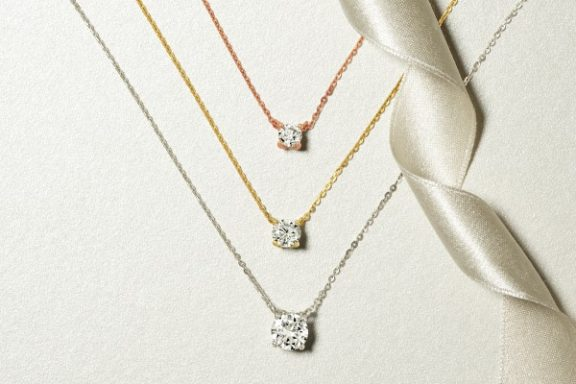 Floating diamond solitaire pendant