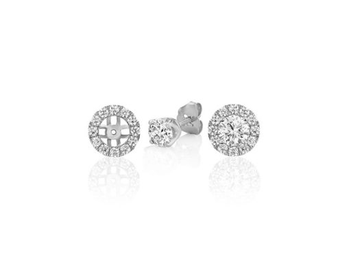 Round Diamond Halo Earring Jackets