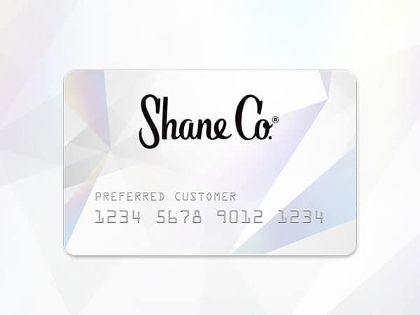 Shane Co. Credit Card.