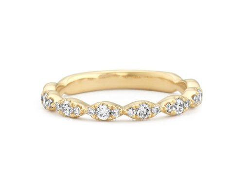 Diamond Cluster Wedding Band