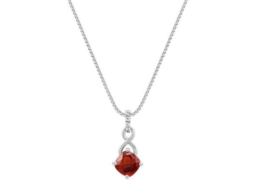 Garnet and white sapphire pendant
