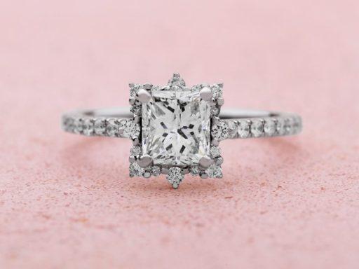 Halo Engagement Ring.