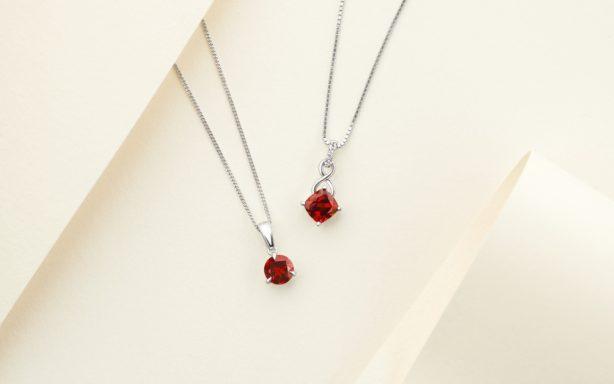 Garnet pendants