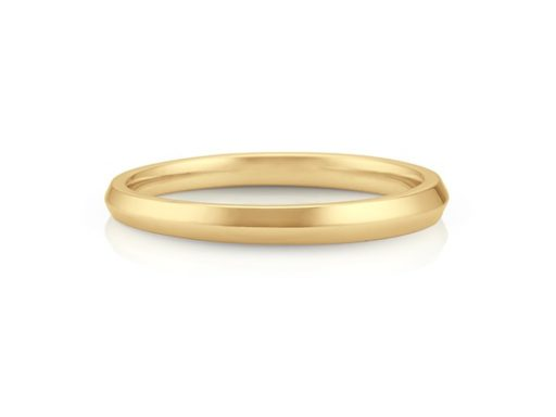 Knife Edge Wedding Band in 14k Yellow Gold