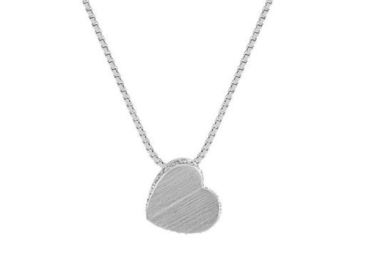 Modern diamond heart pendant