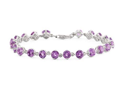 Amethyst Bracelet in Sterling Silver.