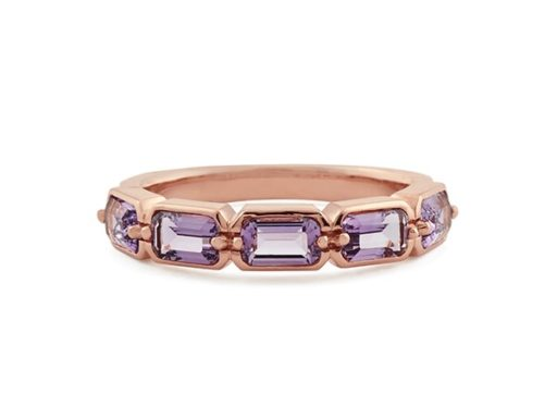 Emerald Cut Amethyst Ring.