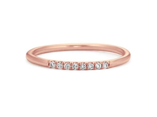 Stackable Diamond Ring in 14k Rose Gold