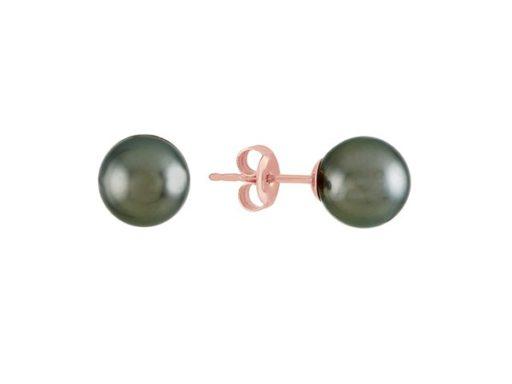 Tahitian Pearl Solitaire Stud Earrings