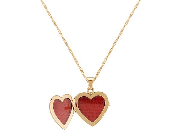 Picture of an open locket.