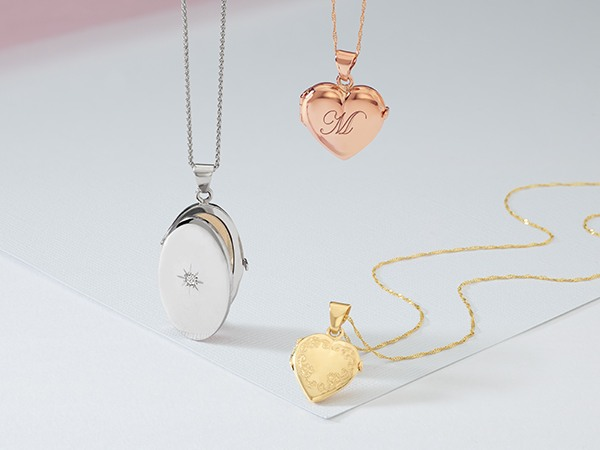 Collection of lockets.