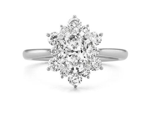 Diamond Halo Engagement Ring.