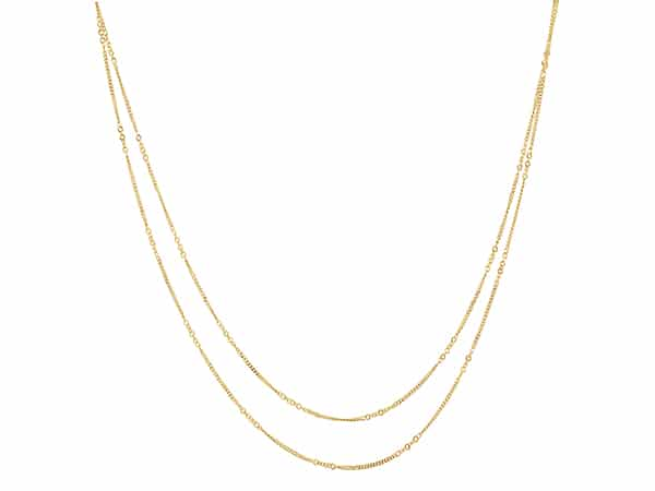 Double Curb Chain in 14k Yellow Gold