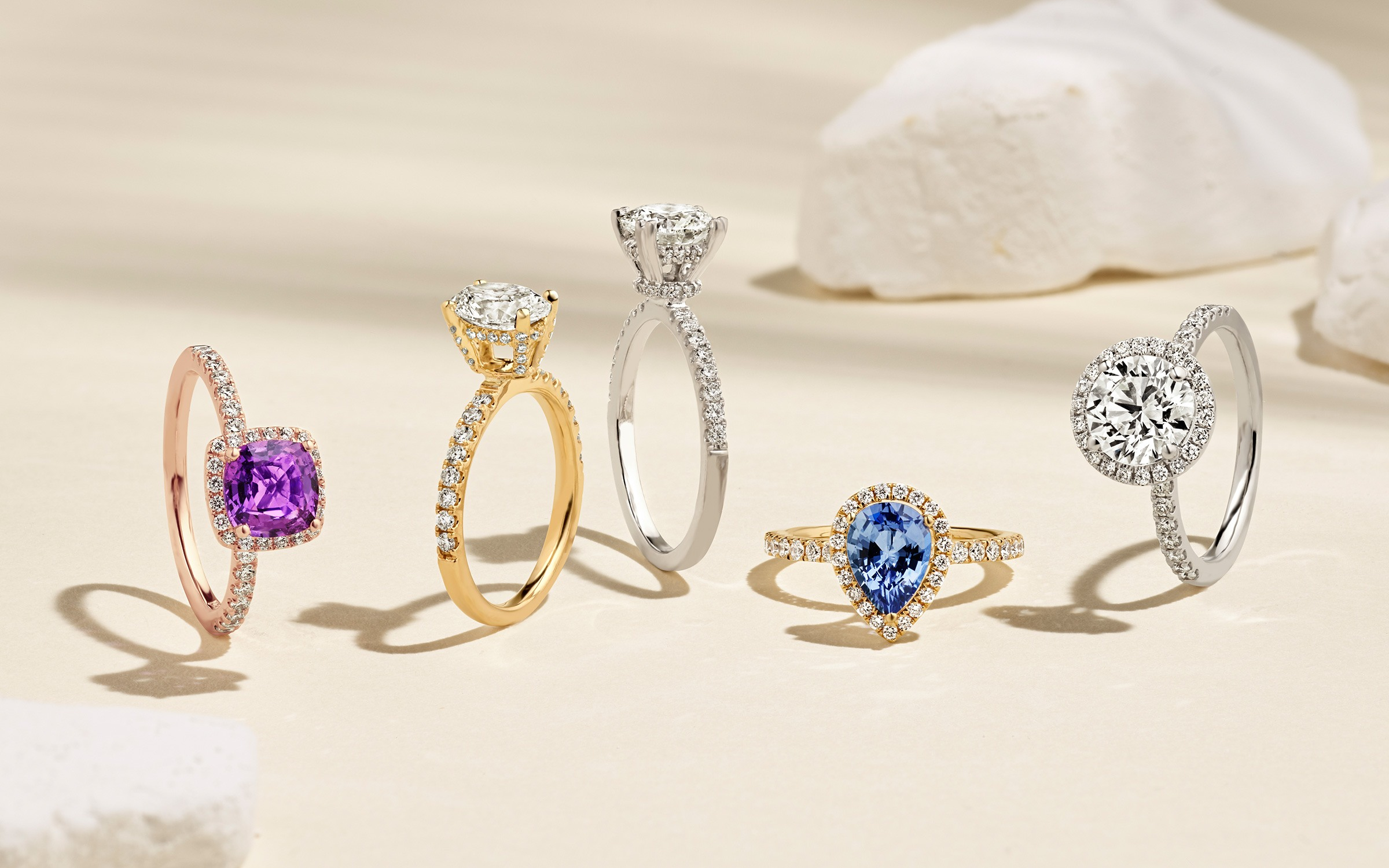 Collection of rings with halos and hidden halos.